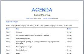 Free Agenda Template Word 33419620204 Free Meeting Agenda