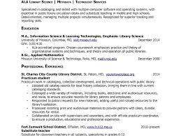 Librarian Resume Sample Resume Template Formats Freele Librarian One Page With Format 23