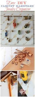 easy diy cabinet hardware jewelry organizer at thehappyhousie com outofthebox