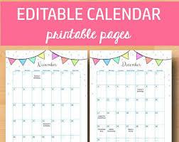 printable calanders printable calendar etsy