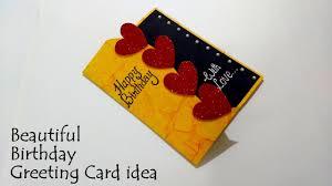 Beautiful Birthday Greeting Card Idea Diy Birthday Card Complete