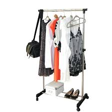 Folding Coat Rack Portable Folding Coat Rack Heavy Duty Garment Rolling Clothes Single 61