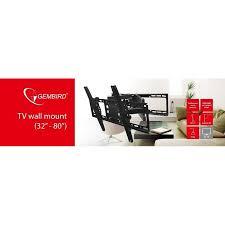 gembird tv wall mount rotate tilt 32 80