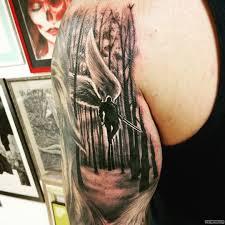 архангел в полете тату на плече у парня добавлено иван вишневский