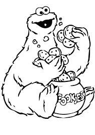 Cookie Monster Coloring Pages To Print Coloringstar