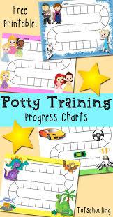 Free Potty Training Progress Reward Charts Toddler Potty