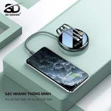 Sạc Dự Phòng G03 Mini Đa Năng Cho iPhone Samsung Xiaomi Oppo Màn Led Chính  Hãng SD Design Pin 10000mAh - Pin sạc dự phòng di động Thương hiệu SD  DESIGN