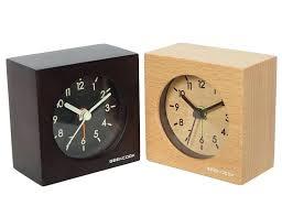 modern desk clock solid wood clocks mute intelligent small squares alarm clock with put down snooze modern desk clock