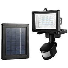 Nature Power 160 Degree Black Motion Sensing Outdoor Solar Dual Solar Security Flood Light
