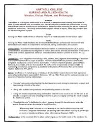 college mission vision values and philosophy