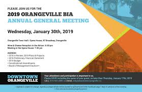 Meet And Greet Meeting Agenda 2019 Orangeville Bia Annual General Meeting Downtown