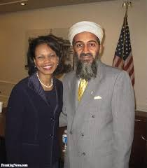 Condoleezza Rice and Osama Bin Laden