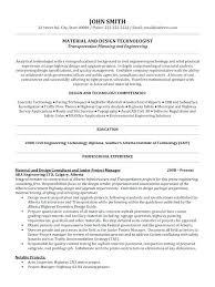 Transportation Resume Examples Engineering Resumes Examples Engineering Resume Examples The Proper