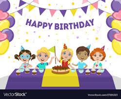 Birthday Boy Banner Design Happy Birthday Banner Template Cute Boys And