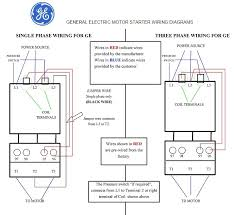 general electric motor starter 1 phase and 3 phase wiring diagrams general electric motor starter 1 phase and 3 phase wiring diagrams