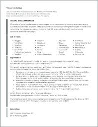 Marketing Manager Resume Objective Enchanting Social Media Skills Resume Template Examples Intern Manager Cv