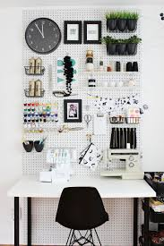 stored or displayed on a pegboard
