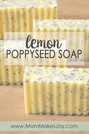 These lush lemon poppy seed soap bars are made with cocoa, shea ...