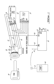 patent us6700220 remote control pass key module for anti theft patent drawing