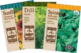 garden seed. Lake Valley Seed USDA Certified Organic Garden Seeds