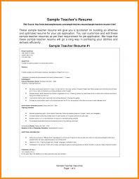 Elementary Teacher Resume Sample Template For Teachers Aust Saneme