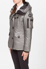 ... SHOP Women - CANADA GOOSE BLACK LABEL Canada Goose Black Label Montebello  CG55 Parka - Steel
