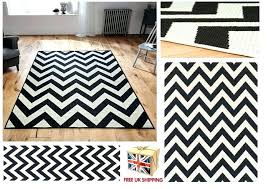 fashionable gray and white chevron rug all sizes utility rugs hall runners monochrome black runner cowhide