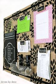 simple tutorial for creating this cute patterned burlap bulletin board love the chalkboard clips bulletin board designs for office
