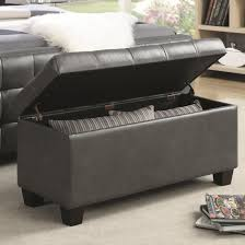 attractive faux leather storage bench benches for collection including bedroom cream maple wood pictures dark gray with brown wooden legs placed on off