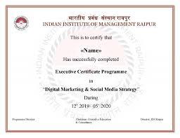 Certified Equity Professional Designation Digital Marketing Course From Iim Raipur