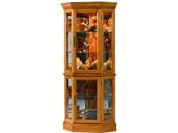 Jasper Curio Cabinet Jasper Cabinet Living Room Lorraine Cherry Corner Curio Cabinet