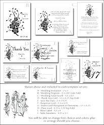 Wedding Invitation Set Templates Printable Invitation Kits Wedding Download Them Or Print