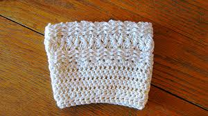 Free Crochet Boot Cuff Patterns Fascinating Free Waves And Seashells Boot Cuff Pattern ELK Studio