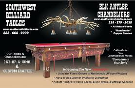 good pool table chandeliers or hand made elk antler chandelier above pool table southwest regarding modern pool table chandeliers