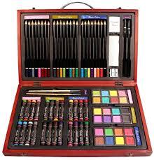 com nicole studio art craft supplies set in wood box for