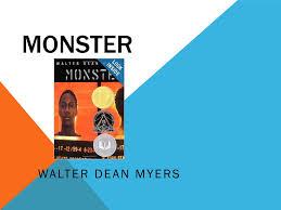 monster walter dean myers ppt video online 1 monster walter dean myers