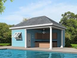 Pool house plans with garage Outdoor Kitchen Plan 062p0005 The Garage Plan Shop Pool House Plans And Cabana Plans The Garage Plan Shop