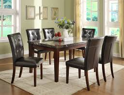 amazon homelegance decatur 7 piece dining table set in espresso table chair sets