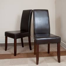 charming faux leather parsons chairs for your residence concept traditional faux leather parson dining chair