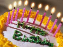 Birthday Cakes With Candles And Flowers Hd Wallpaper Background Images