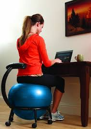 balance ball chair this is perfect for someone who would otherwise fall over