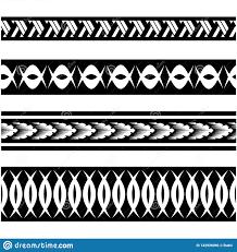 безшовный этнический эскиз границы полинезийская граница татуировки