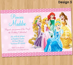 tag editable disney princess birthday invitation cards disney princess invitation cards