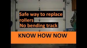 how to replace garage door rollers