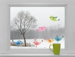 6 Vögel Fenstersticker Aufkleber Fensterbild Fensteraufkleber