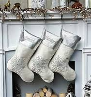 gray christmas stockings. Contemporary Stockings White Silver Snowflake Personalized Christmas Stocking With Gray Stockings
