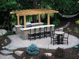 Outdoor Kitchen Countertop Backyard Kitchen Bar With Outdoor Bar Minnesota Outdoor Bar