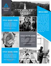 College Templates College Newsletter