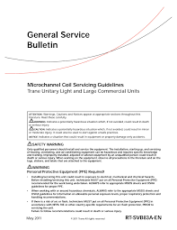 General Service Bulletin Trane Com Pages 1 16 Text