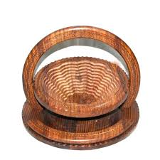 wooden fruit basket carving plate from plans